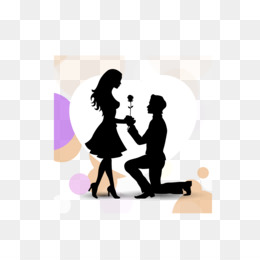 Marriage Proposal png free download - Friendship Day Love Background