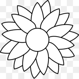 Sunflower Black And White Png Sunflower Black And White