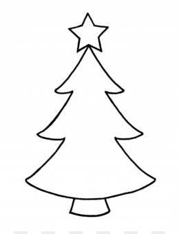 Christmas Tree Outline Png And Christmas Tree Outline Transparent