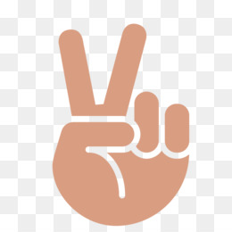 Gesture png free download - Love Black And White - peace sign