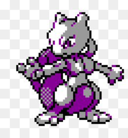 Work Of Art Png Free Download Minecraft Mewtwo Pixel Art