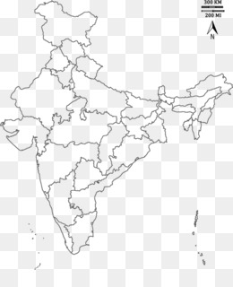 Outline Of Geography png free download - India Map - India