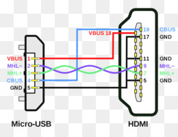 wiring diagram hdmi micro-usb pinout mobile high-definition link - cable  plug