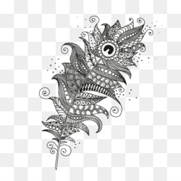 Zentangle Coloring Book PNG and Zentangle Coloring Book Transparent ...